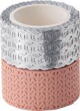 Folia Washi Tape Dekor rose/silber
