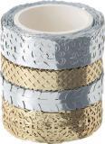 Folia Washi Tape Dekor silber/gold