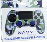 FR-TEC PS4 Silicon Skin+Grips Camo Navy