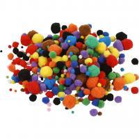 Creativ Company Pompons 5-40 mm, 150 Stück