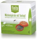 Finito green Mückenspirale mit Tontopf