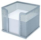 WEDO Zettelbox Office-Serie Silber