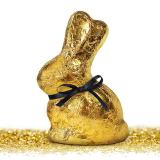 B+C Servietten Golden Bunny