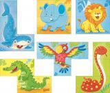 Goki Würfelpuzzle Wilde Tiere