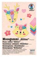 URSUS Moosgummi-Set Glitter Pastell