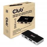 Club 3D, USB 4-in-1 Hub Typ C 4K60Hz