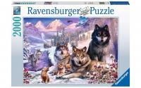 Puzzle Wölfe im Schnee