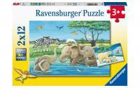 Puzzle Tierkinder aus aller Welt