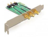 Delock IPex zu RP-SMA PCI-ex1 Slotblech