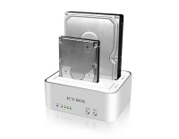 ICY BOX IB-120CL-U3, 2-Fach HDD Dock/Klon