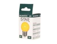 LED Mini Lampe gelb/orange, E27, 230V