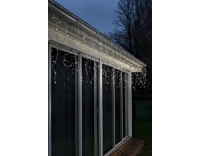 Konstsmide Curtain Eisregen, weiss