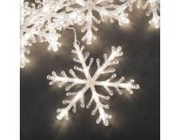 Lichtervorhang LED Schneeflocken 5er, 4m