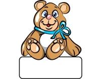 Geburtstafel Bär blau