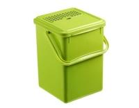 Rotho Komposteimer mit Aktivkohle Bio grün
