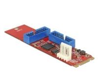 Delock M.2 zu 2x USB3.0 Pfostenstecker