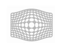 SiliconeZone Abtropfmatte gross grau