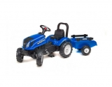 Tret-Traktor mit Anhänger kl. New Holland