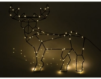 Star Trading LED-Rentier stehend Schwarz