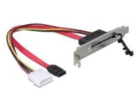 SATA Slotblech inkl. Strom. 22 Pin