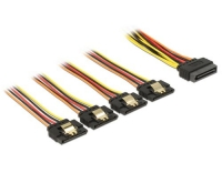 Delock SATA Stromadapter 4x SATA, gerade