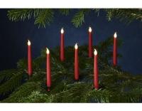 Sirius LED-Kerze Caroline 10er Set rot