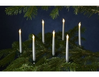 Sirius LED-Kerze Caroline 10er Set silber