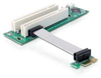 Delock PCI-E Riser, x1 zu 2x32+Floppy 4pin