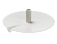 Agro Deckenrosette 98mm rund, Kabelauslass