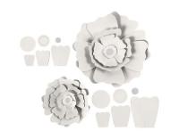 Creativ Company Papier-Blumen weiss