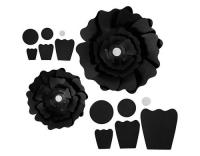 Creativ Company Papier-Blumen schwarz