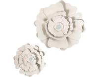 Creativ Company Papier-Blumen off-white