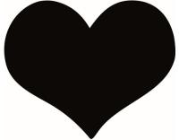 Securit Kreidetafel Silhouette Klett Herz