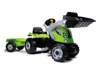 Smoby Traktor Farmer MAX Grün + Anhänger