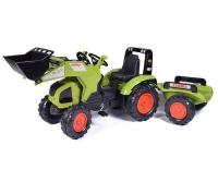 Tret-Traktor mit Anhänger, Schaufel rot