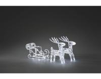 Konstsmide LED Rentiere mit Schlitten 3 Set