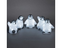 Konstsmide LED Acrylpinguine 5er Set
