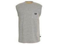 CAT Shirt ärmellos TM Pocket Heather Grey