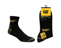 CAT Workwear Quarters Socks Black
