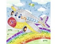 URSUS Moosgummi-Set Glitter Flugzeug