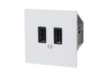 USB-Ladesteckdose EDIZIOdue 2-fach