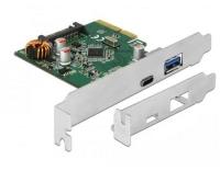 Delock PCIe 1x USB-Typ-C, 1x USB-A