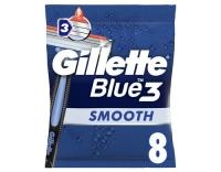 Gillette Einweg Rasierer Blue 3 Smooth 8er