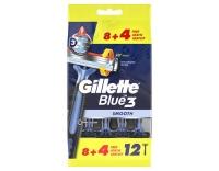 Gillette Einweg Rasierer Blue 3 Smooth 12er