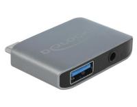Delock USB-C Soundadapter, 3.5mm, USB-A 3.0