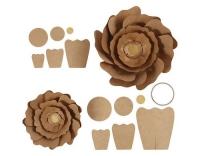 Creativ Company Papier-Blumen gold