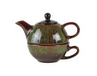Villa Collection Teekanne Stoneware grün