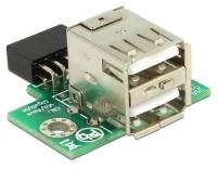 Delock USB Buchse zu 9 Pin Pfostenbuchse