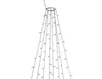 Konstsmide LED Baummantel funkelnd 560 LED