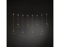 Konstsmide LED Sternenvorhang mit 8 Sternen